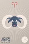 Aries - Woven Zodiac - Lantern Press Artwork