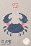 Cancer - Woven Zodiac - Lantern Press Artwork
