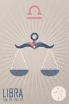 Libra - Woven Zodiac - Lantern Press Artwork