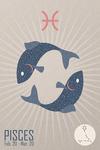 Pisces - Woven Zodiac - Lantern Press Artwork