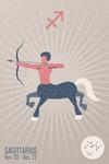 Sagittarius - Woven Zodiac - Lantern Press Artwork