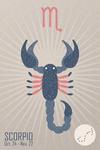 Scorpio - Woven Zodiac - Lantern Press Artwork