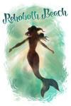 Rehoboth Beach, Delaware - Mermaid Underwater - Lantern Press Artwork