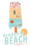 Rehoboth Beach, Delaware - Summer Ice Cream Scene - Lantern Press Artwork