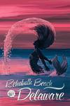 Rehoboth Beach, Delaware - Silhouette Mermaid - Dusk Scene - Lantern Press Artwork