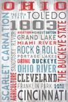 Toledo, Ohio - Rustic Typography - Lantern Press Artwork