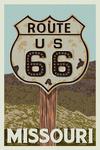 Missouri - Route 66 - Letterpress - Lantern Press Artwork