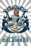 Rehoboth, Delaware - Merman - Contour - Lantern Press Artwork