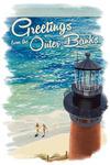 Outer Banks, North Carolina - Greetings - Beach, Ocean, & Lighthouse - Lantern Press Artwork