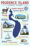 Prudence Island, Rhode Island - Typography & Icons - Lantern Press Artwork