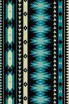 Tribal Inspired Pattern - Blue & Tan - Lantern Press Artwork
