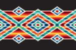 Tribal Inspired Pattern - Crosshatch - Lantern Press Artwork