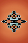 Tribal Inspired Pattern - Orange Background - Lantern Press Artwork