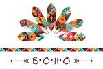 Colorful Feathers - Boho - Tribal Inspired Pattern - Lantern Press Artwork