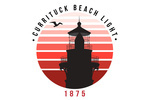 Outer Banks, North Carolina - Currituck Beach Lighthouse & Sunset - 1875 - Lantern Press