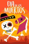 Dia De Los Muertos - Skeleton & Horse Head - Lantern Press Artwork