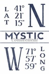 Mystic, Connecticut - Latitude & Longitude - Lantern Press Artwork