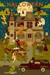 Halloween - Trick or Treat - Geometric - Lantern Press Artwork