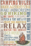Camping Rules - Home Is Where You Park It - Rustic Typography - Lantern Press Artwork