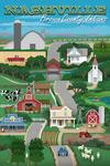 Brown County, Nashville, Indiana - Retro Countryside - Lantern Press Artwork