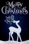 Merry Christmas - Reindeer - Lantern Press Artwork