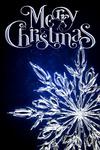Merry Christmas - Snowflake - Lantern Press Artwork