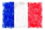 France - Watercolor Flag - Lantern Press Artwork