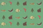 Woodland - Icons - Pattern -Lantern Press Artwork
