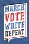 March, Vote, Write, Repeat - Civil Rights - Lantern Press Artwork