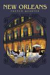 New Orleans, Louisiana - French Quarter - Contour - Lantern Press Artwork