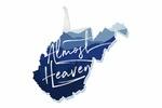 West Virginia - Almost Heaven - State Silhouette & Mountains - Blue - Lantern Press Artwork