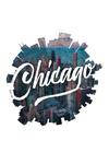 Chicago, Illinois - Skyline - Contour - Lantern Press Artwork