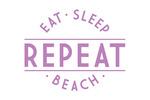 Eat, Sleep, Beach, Repeat - Simply Said - Contour - Lantern Press Artwork