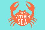 I Need Vitamin Sea - Simply Said - Contour - Lantern Press Artwork