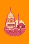 Washington DC - A Capital City - Contour - Lantern Press Artwork