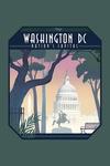 Washington, DC - Nation's Capitol - Lithograph - Contour - Lantern Press Artwork