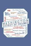 Washington, DC - Typography - Contour - Lantern Press Artwork