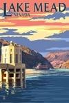 Lake Mead, Nevada - Paddleboat and Hoover Dam - Lantern Press Artwork