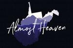 West Virginia - Almost Heaven - State Silhouette & Mountains - Contour - Lantern Press Artwork