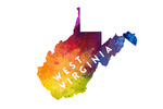 West Virginia - State Abstract Watercolor - Contour - Lantern Press Artwork