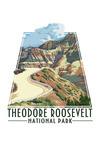 Theodore Roosevelt NP, North Dakota - Road Scene - Contour - Lantern Press Artwork