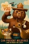 Land Between the Lakes, Kentucky - Smokey Bear - Only You - Lantern Press Artwork