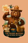 Land Between the Lakes, Kentucky - Smokey Bear & Friends - Only You - Contour - Lantern Press Artwork