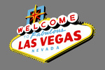 Las Vegas, Nevada - Welcome Sign - Contour - Lantern Press Artwork