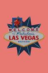 Las Vegas, Nevada - Welcome to Las Vegas Sign - Letterpress - Contour - Lantern Press Artwork
