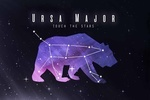 Ursa Major - Touch the Stars - Constellation Silhouette with Night Sky - Color - Lantern Press Artwork