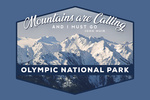 Olympic National Park, Washington - John Muir Mountains Quote - Contour - Lantern Press Photography