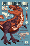 Tyrannosaurus - Dinosaur Infographic - No Distress Version - Lantern Press Artwork