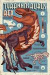 Tyrannosaurus - Dinosaur Infographic - Distressed Version - Lantern Press Artwork
