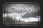 Olympic National Park, Washington - John Muir - The Mountains are Calling - Contour - Lantern Press Photography